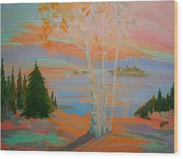 Wood Print featuring the painting Sullivan Sunset by Francine Frank