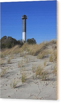 Sullivan's Island Lighthouse Wood Print by Mountains to the Sea Photo