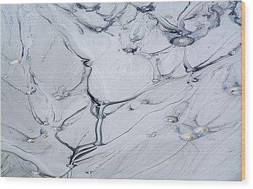 Sulphur Caldron Mud Art Yellowstone Wood Print by Bruce Gourley
