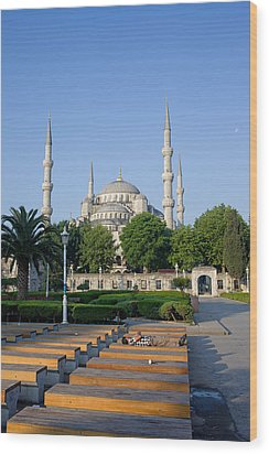 Sultan Ahmet Mosque In Istanbul Wood Print by Artur Bogacki