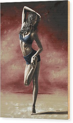 Sultry Dancer Wood Print by Richard Young