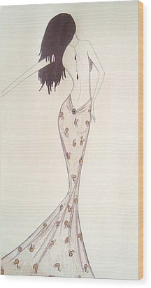 Sultry Sophisticate  Wood Print by Christine Corretti