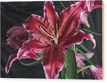 Sumatran Lily Wood Print