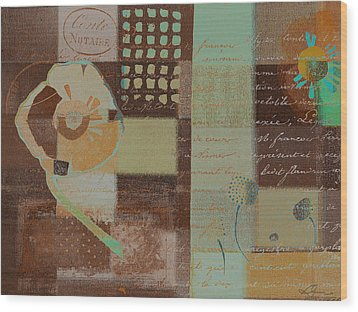 Summer 2014 - J088097112-brown01 Wood Print by Variance Collections