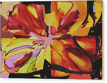 Summer Abstract Wood Print by Kathy Bassett