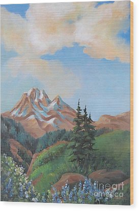 Summer At Kananaskis 2 Wood Print