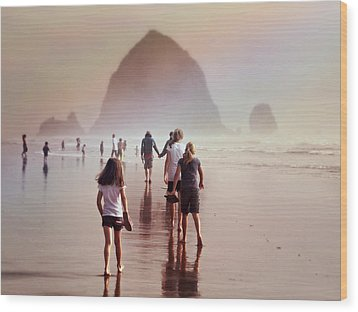 Wood Print featuring the photograph Summer At The Seashore  by Micki Findlay
