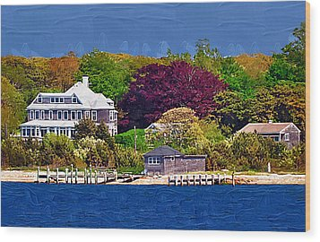 Summer At The Shore Wood Print by Kirt Tisdale