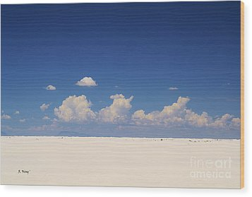 Summer At White Sands National Monument Wood Print by Roena King