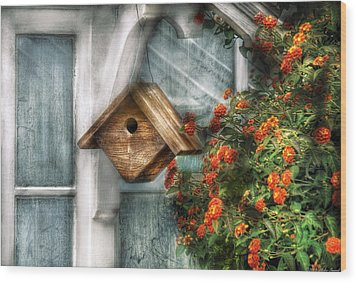 Summer - Birdhouse - The Birdhouse Wood Print by Mike Savad