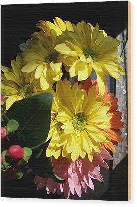 'summer Bouquet In Sunlight'  Wood Print