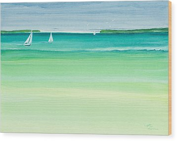 Summer Breeze Wood Print by Michelle Wiarda
