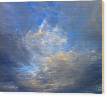 Summer Clouds Wood Print by Kay Gilley