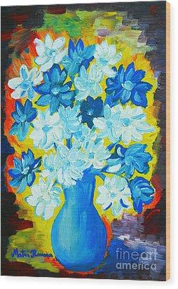 Summer Daisies Wood Print by Ramona Matei