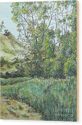 Summer Day Wood Print by Elizabeth Crabtree