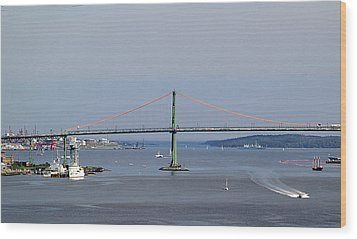 Summer Day On Halifax Harbour Wood Print by George Cousins