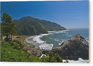 Summer Day On The Oregon Coast Wood Print