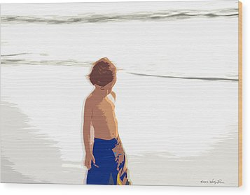 Summer Days Wood Print by Kathy Ponce