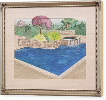 Wood Print featuring the painting Summer Days by Ron Davidson