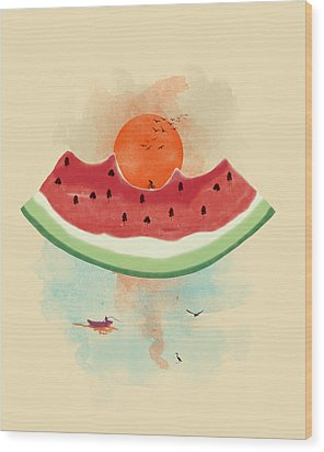 Summer Delight Wood Print by Neelanjana  Bandyopadhyay
