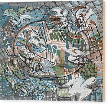 Wood Print featuring the digital art Summer Divertimento by Clyde Semler
