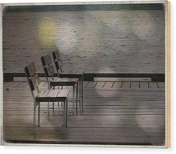 Summer Dock Waterfront Fine Art Photograph Wood Print by Laura Carter