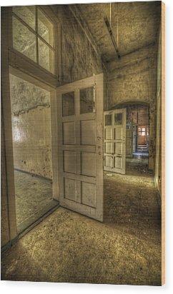 Summer Doors Wood Print by Nathan Wright