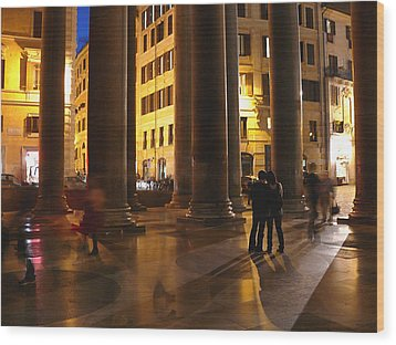 Summer Evening In Rome Wood Print