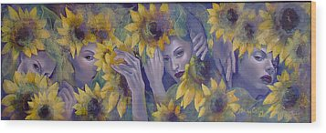Summer Fantasy Wood Print by Dorina  Costras