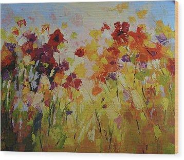 Summer Field Wood Print by Yvonne Ankerman