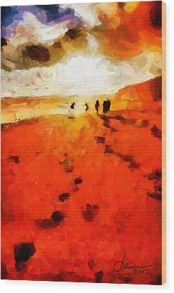 Summer Fire Tnm Wood Print by Vincent DiNovici