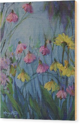 Summer Flower Garden Wood Print