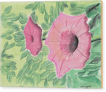 Summer Flowers Wood Print by David Jackson