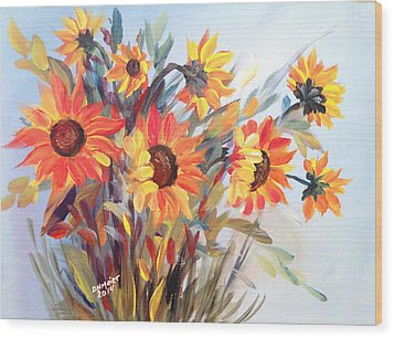 Summer Flowers Wood Print by Dorothy Maier