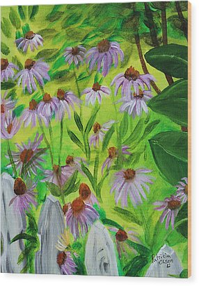 Summer Flowers In Peculiar Mo. Wood Print by Patricia Olson