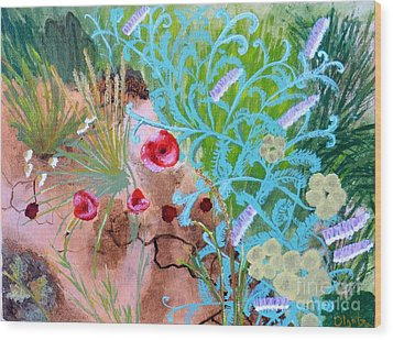 Summer Flowers Wood Print by Olga R