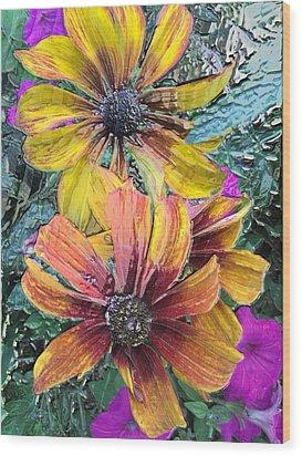 Summer Flowers One Wood Print