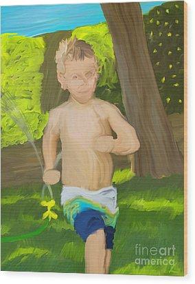 Summer Fun Wood Print by Scott Laffin