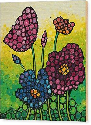 Summer Garden 2 Wood Print by Sharon Cummings