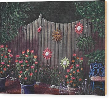 Summer Garden Wood Print by Anastasiya Malakhova