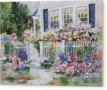 Summer Garden Wood Print by Bobbi Price
