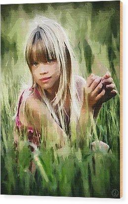 Summer Girl Wood Print by Gun Legler