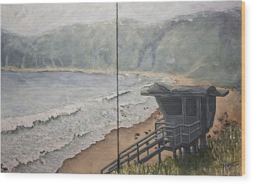 Summer Haze Wood Print by C Michael French