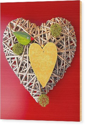 Wood Print featuring the photograph Summer Heart by Juergen Weiss