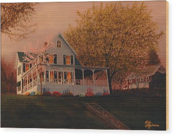 Summer Home Wood Print