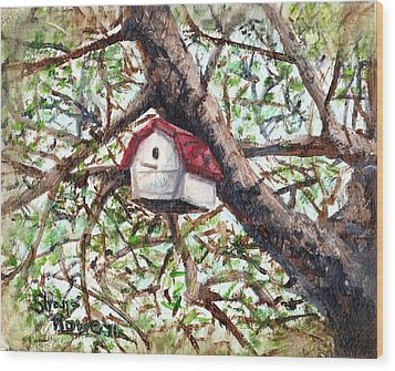 Wood Print featuring the painting Summer Home by Shana Rowe Jackson