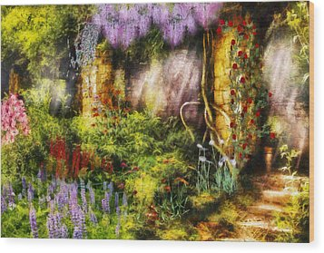 Summer - I Found The Lost Temple  Wood Print by Mike Savad