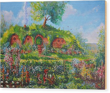Summer In The Shire Wood Print by Joe  Gilronan