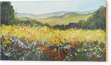 Summer Landscape Dream Wood Print by Dorothy Maier