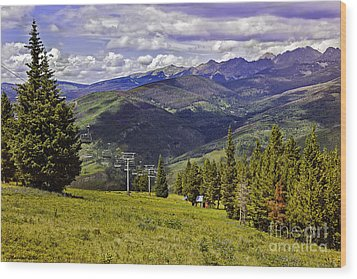 Summer Lifts - Vail Wood Print by Madeline Ellis